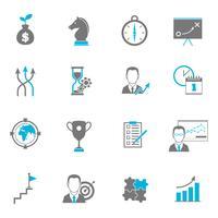 Zakelijke strategie planning iconen