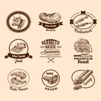 Sketch meat labels