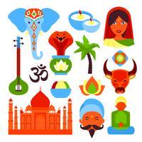 Indien-Symbole gesetzt