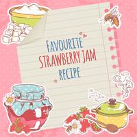 Strawberry jam poster