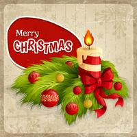 Affiche rétro de Noël
