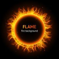 Fond de cercle de flamme