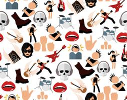 Rock music seamless pattern