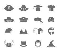 Chapeau icônes noir