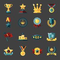 Conjunto de iconos de premio