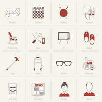 Pensionistas Life Icons Flat Line
