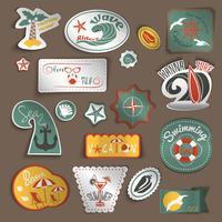 Travel stickers set