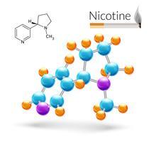 Molécula de nicotina 3d