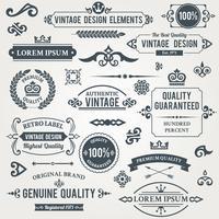 Elementos de diseño vintage