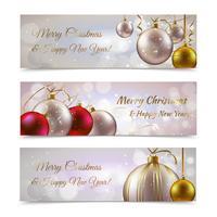 Banners navideños horizontales
