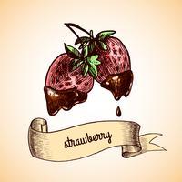 Croquis au chocolat aux fraises