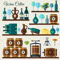 Weinkeller-Symbole vektor