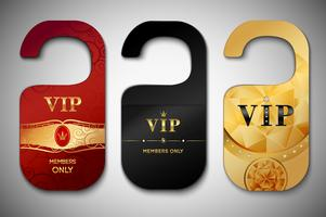 Vip door tags set