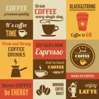 Koffie mini-poster set