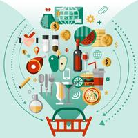 Food icons basket