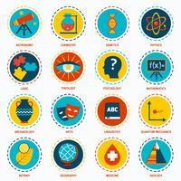 Iconos de áreas de ciencia