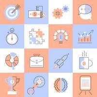 Creative icons set ligne plate