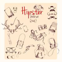 Conjunto de dibujo de hipster