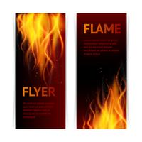 Flame banners set