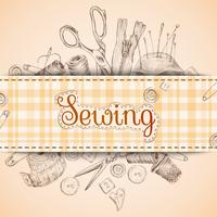 Tarjeta de papel de coser