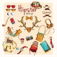 Conjunto de desenho Hipster