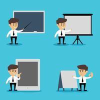 Affärsman presentation uppsättning