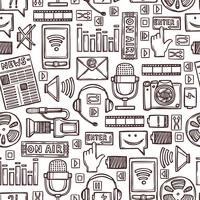 Media sketch seamless pattern