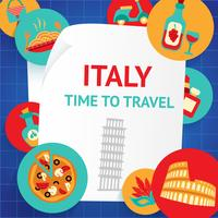 Italy background template vector