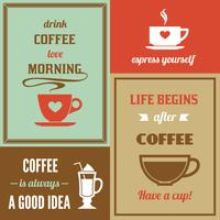 Coffee mini poster set