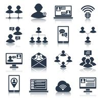 Kommunikations-Icons Set