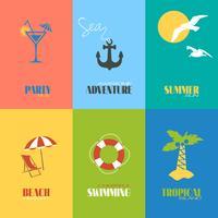 Affiches de l'heure d'été