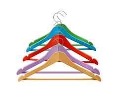Clothes hangers colored