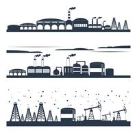 Industrial city skyline banners