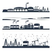 Banners de horizonte de ciudad industrial