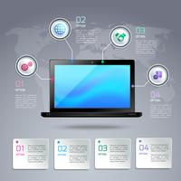 Laptop infographic template