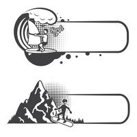 Extreme sports bookmarks vector