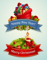 Christmas banner set