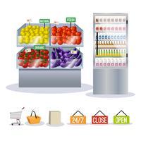Supermercado frutas legumes