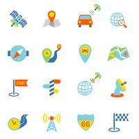 Icone mobili di navigazione piatte