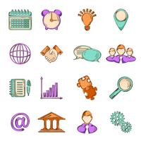Business sketch line icons