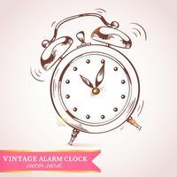 Antigua tarjeta de reloj despertador retro