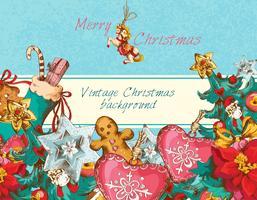 Weihnachtshintergrund farbig