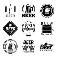 Beer black emblems