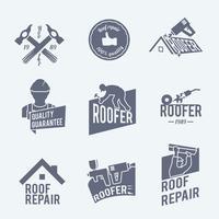 Set di etichette per tetti grigio