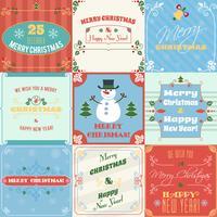 Conjunto de tarjetas de navidad