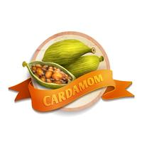Cardamom ribbon badge