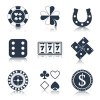 Casino black design elements