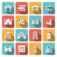 Government buildings icons