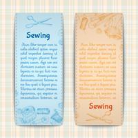 Conjunto de banners de costura