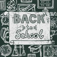 Back to school blackboard poster